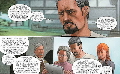 Tony Stark explains his plans for world domination.  I mean, world peace