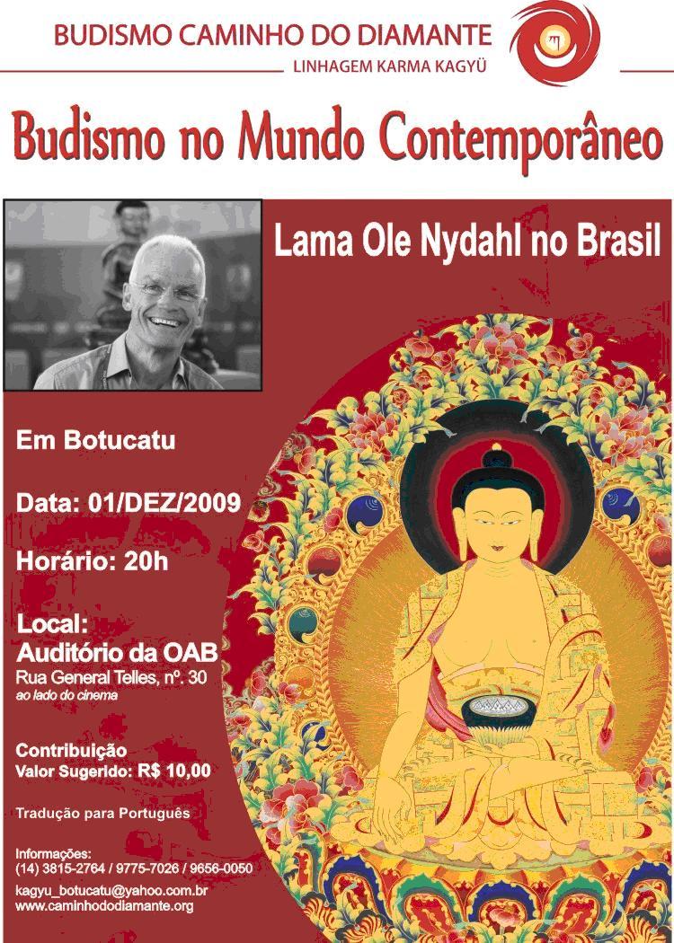 Espa o do bem palestra budismo e o mundo contempor neo for Q significa contemporaneo