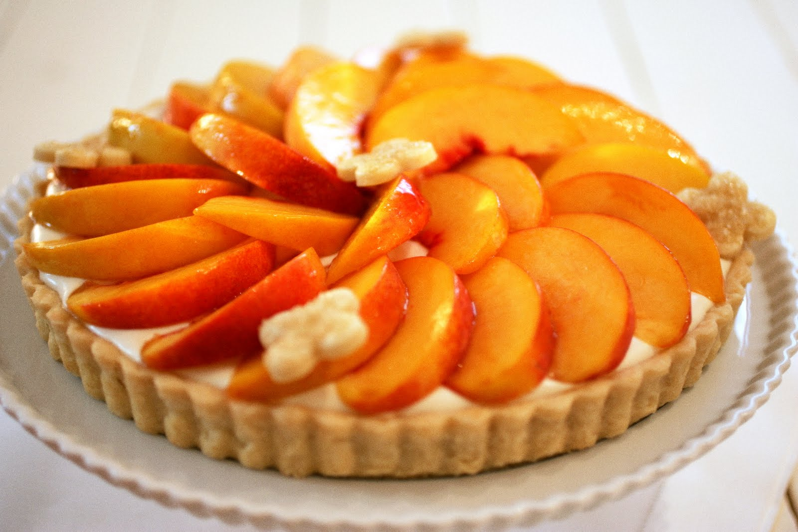 Tish Boyle Sweet Dreams: Just Peachy: Fresh Peach Cheesecake Tart