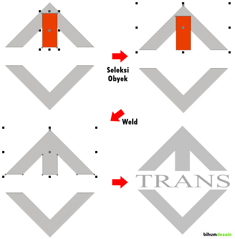 Membuat Logo TRANS TV Dengan Corel Draw