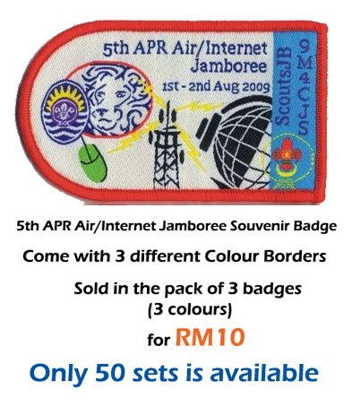 5th APR Air-Internet jamboree badge for Sale