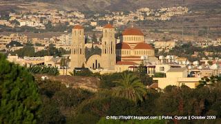 Церковь в Пафосе, закат, Кипр, Church in Pafos, Cyprus sunset by TripBY