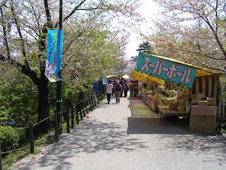 岡崎城お花見の屋台