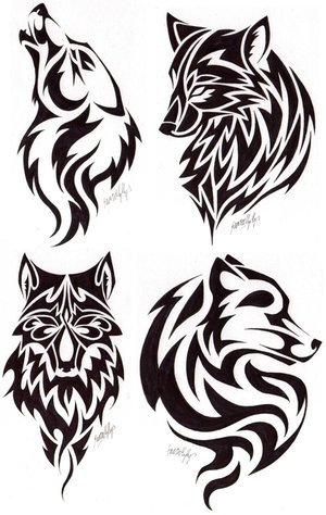 tribal wolf tattoos