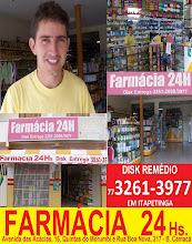 FARMÁCIA 24 HORAS: 30% DE DESCONTO EM GENÉRICOS