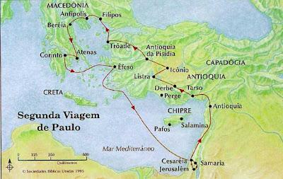 Apóstolo Paulo  — Segunda Viagem Missionária