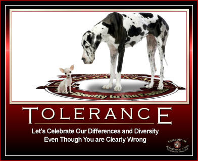All Toes in the Water: Tolerant--100 Words
