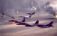 F-15s and F-16s and burning oil wells in Operation Desert Storm