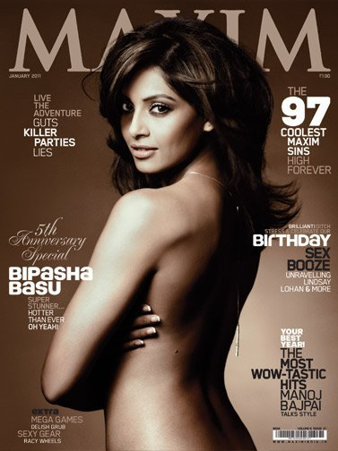Bipasha Basu without clothes for Maxim; the sultry actress posed