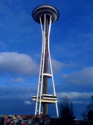 Space Needle and blue sky