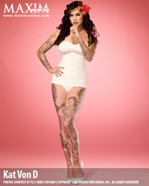 tattoos kat von d. you want a Kat Von D-ish