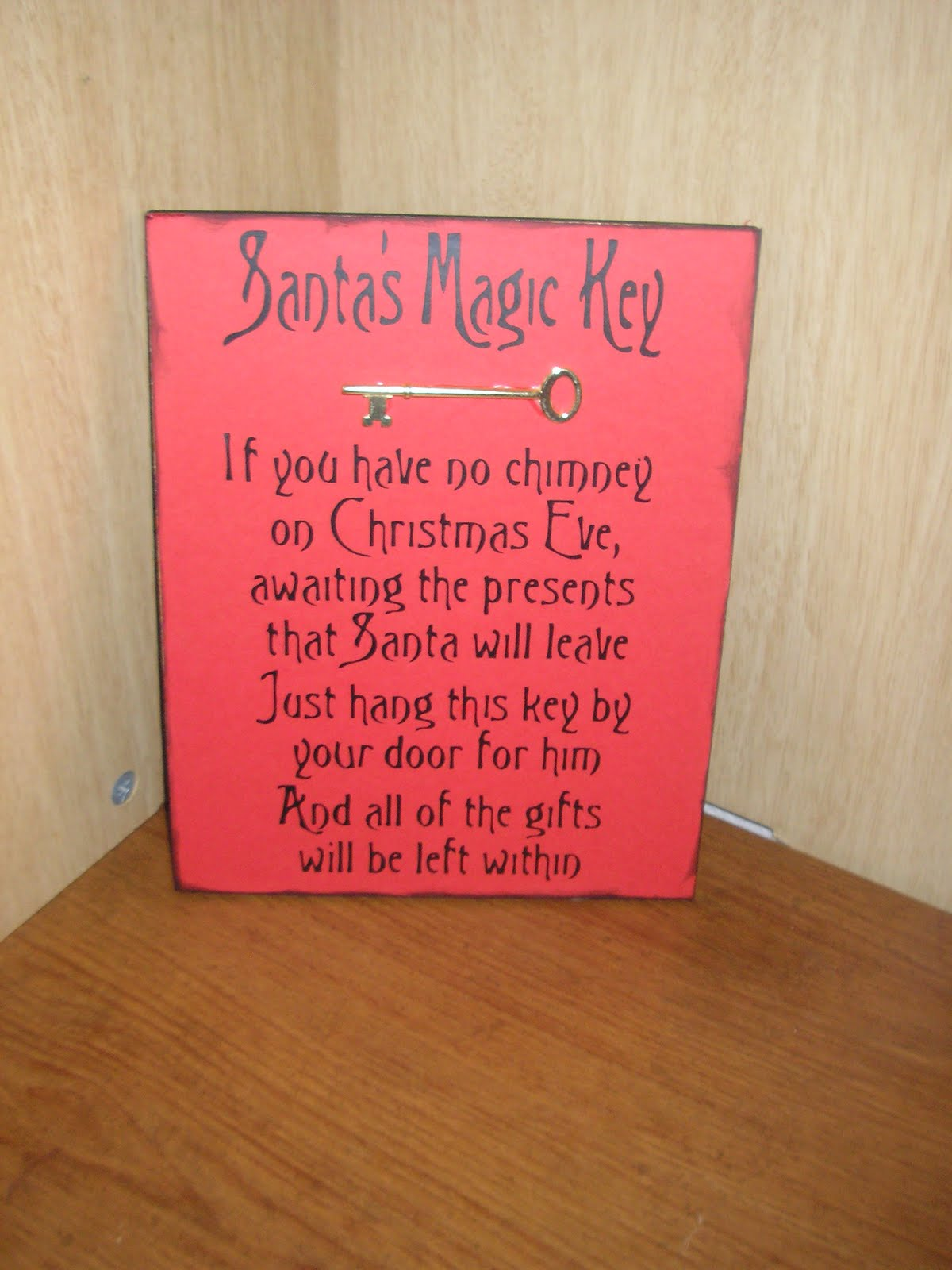 Crafts with a side of you santa 39 s magic key for Santa s magic key craft