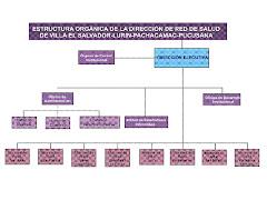 CUADRO ORGANIGRAMA DE LA DRS VES LPP