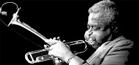 photo of Dizzy Gillespie playing trumpet