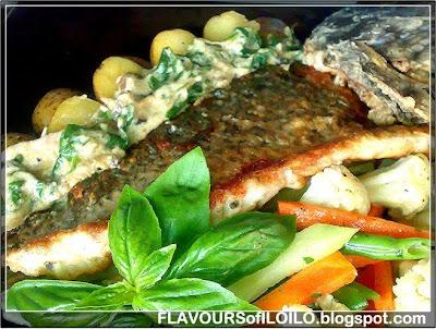 Eats holy week snapper florentine at bourbon street for Bourbon street fish