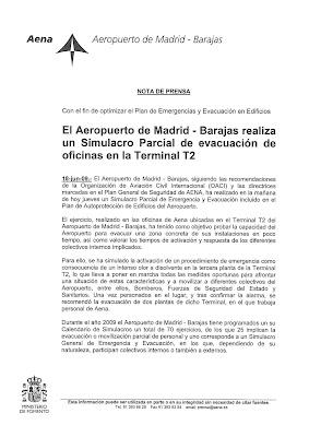 Las mentiras de barajas 23 jul 2009 for Oficinas aena madrid
