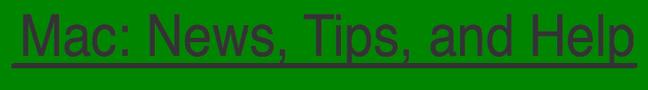 Mac: News, tips, and help