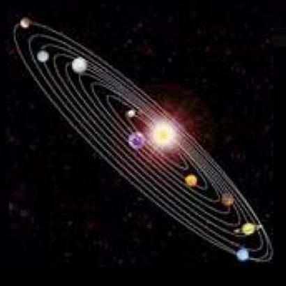 The Navagraha (Nine Planets- Sun to Mars) is making stimulation in