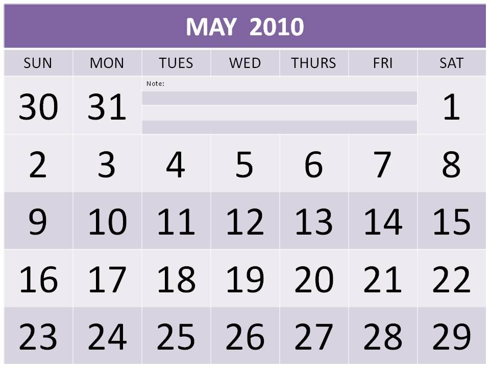 calendar may 2012. Free May 2010 Calendar