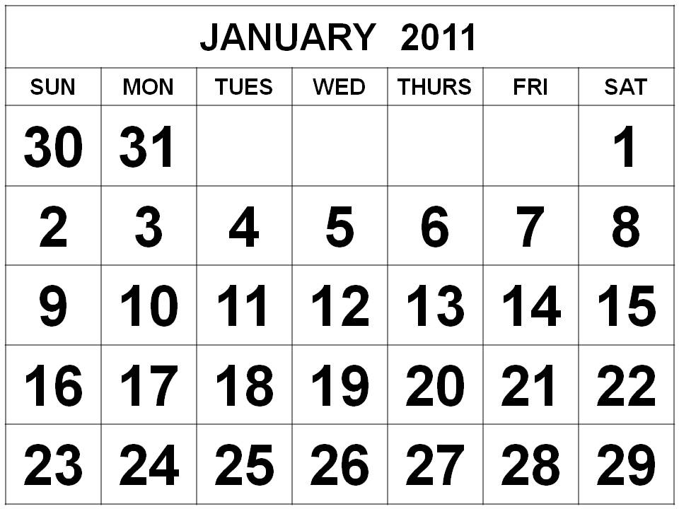 Printable January Student Calendar Trials Ireland