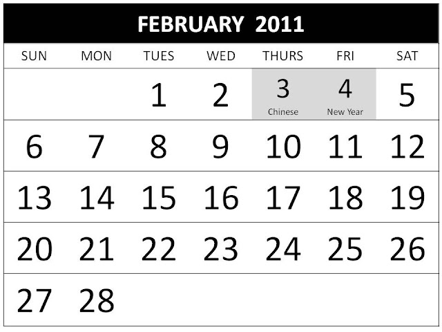 february 2011 calendar with holidays. lyrics, February