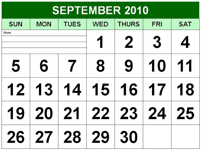 september 2010 calendar. september 2010 calendar.
