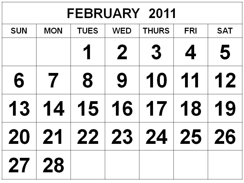 february 2011 calendar canada. Canada February 2011 Calendar