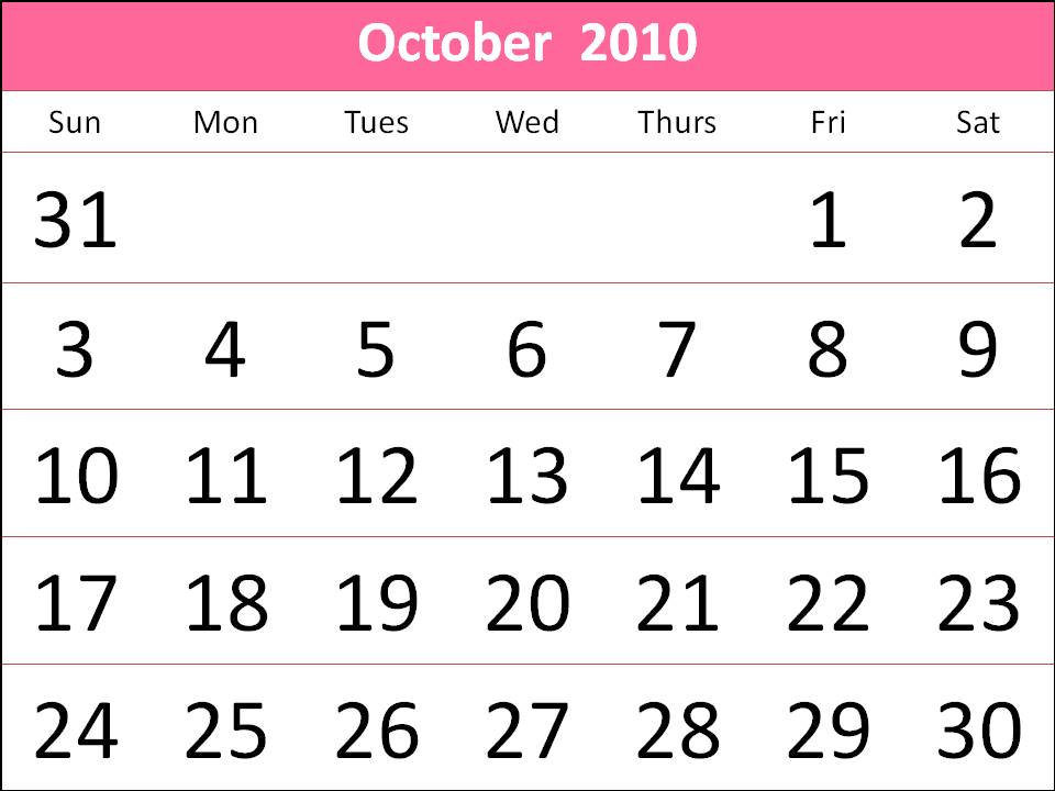 2010 october calendar. October+2010+calendar+