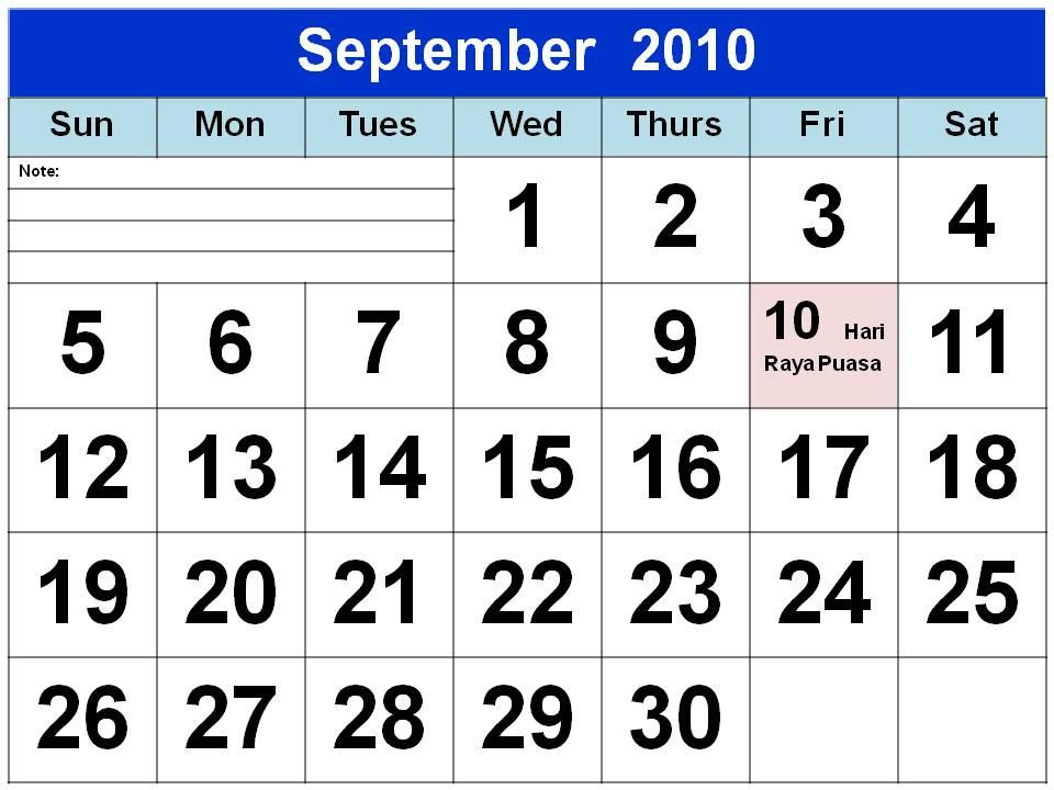 calendar template 2010. Blank Calendar Template 2010