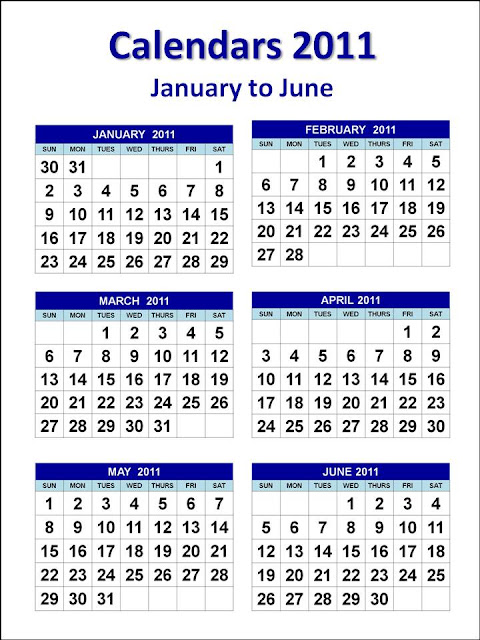 2011 calendar printable one page. Calendars 2011 in one (1) page