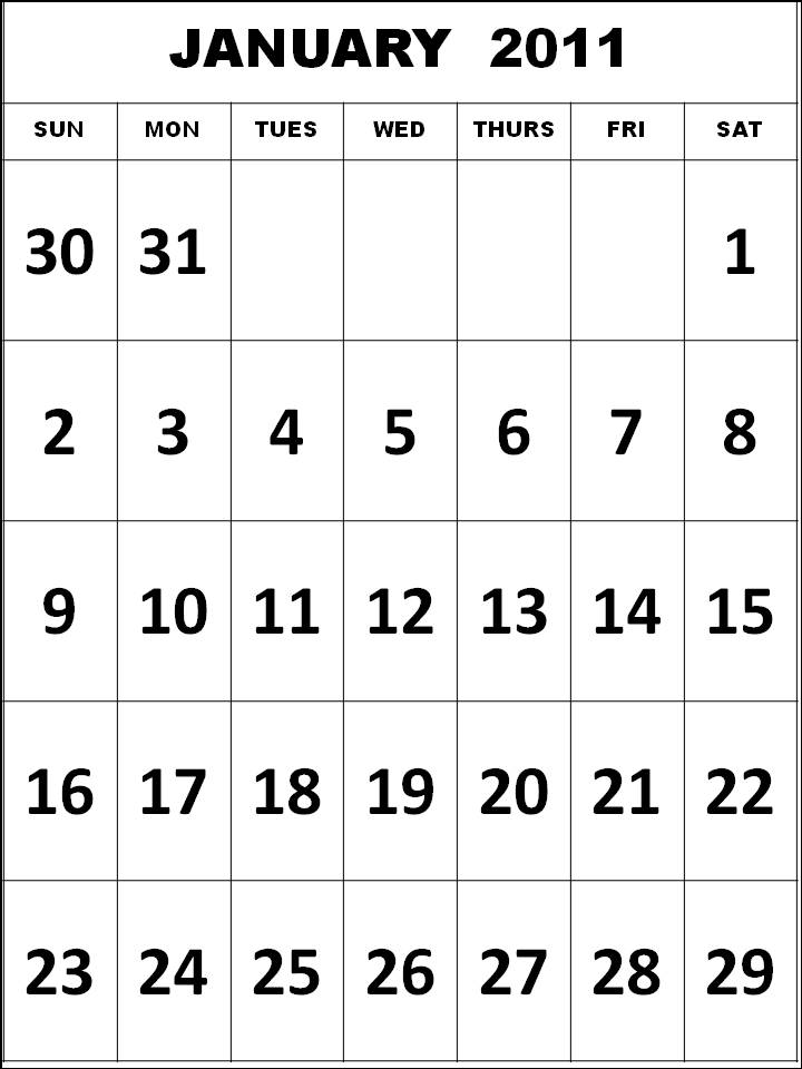 january to december 2011 calendar. Show Full Months (January,