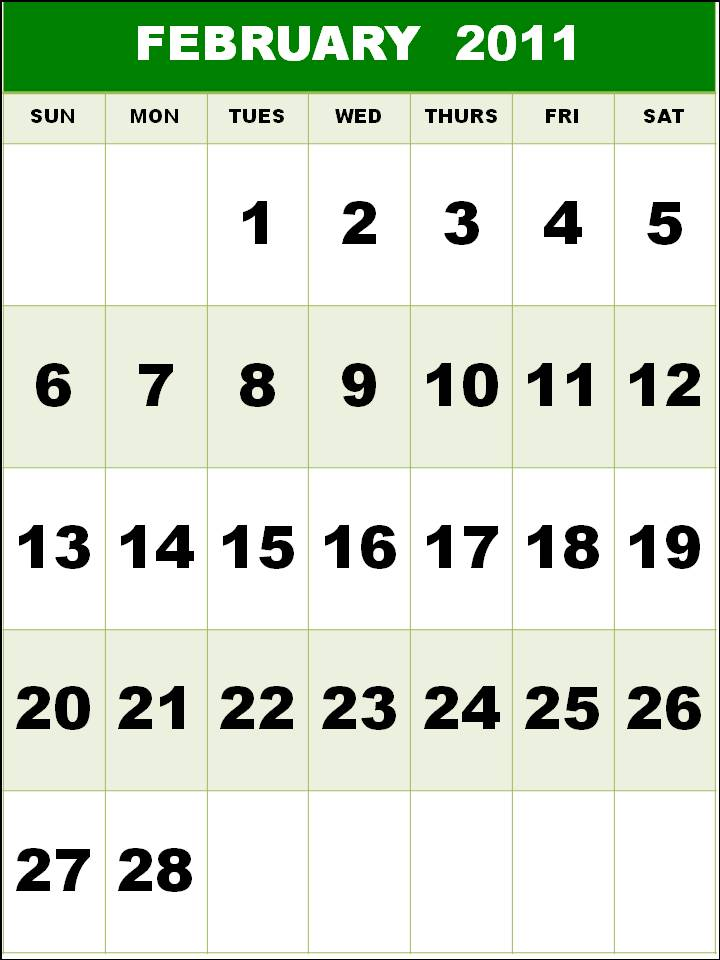 free yearly calendar 2011 template. free yearly calendar