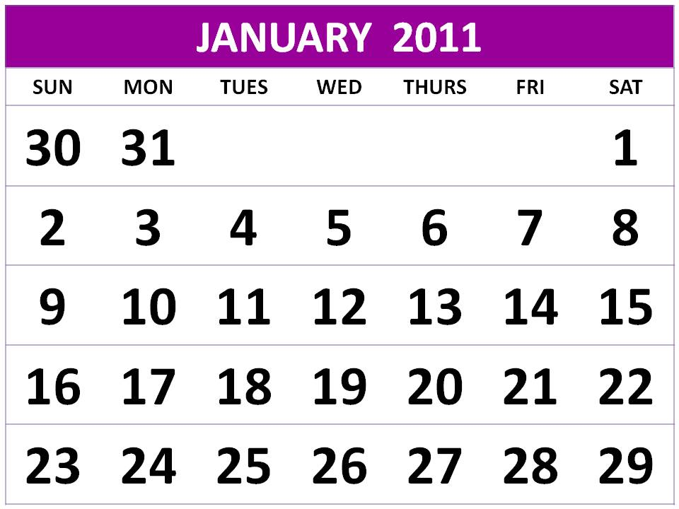 On this website you can find : Free January 2011 Calendar Printable / 2011