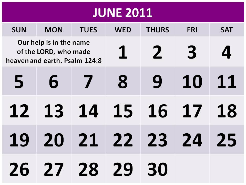 june calendar for 2011. month of june calendar 2011.