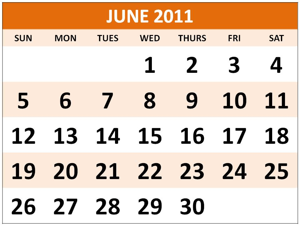 General blue printable one page 2011calendar - True