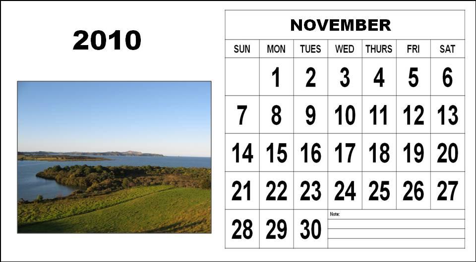 printable november 2010 calendar. free printable calendars