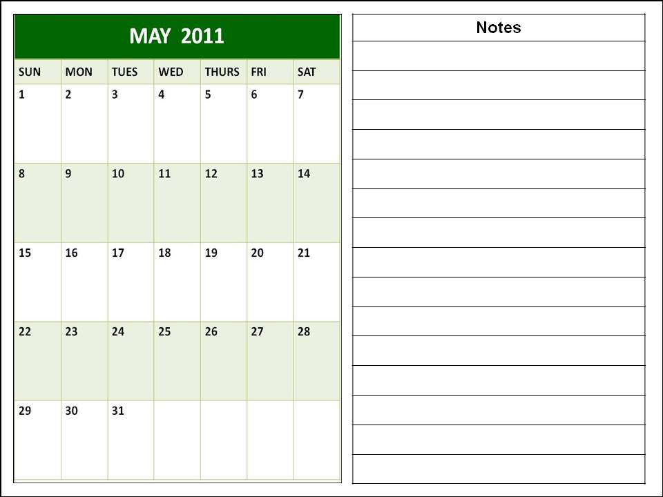 may 2011 printable calendar. PRINTABLE CALENDAR 2011 MAY