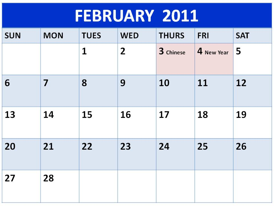 calendar we have added 2011