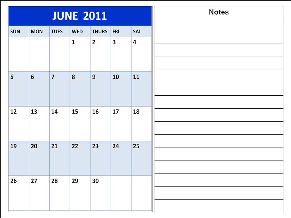 june 2011 calendar blank. lank june 2011 calendar.