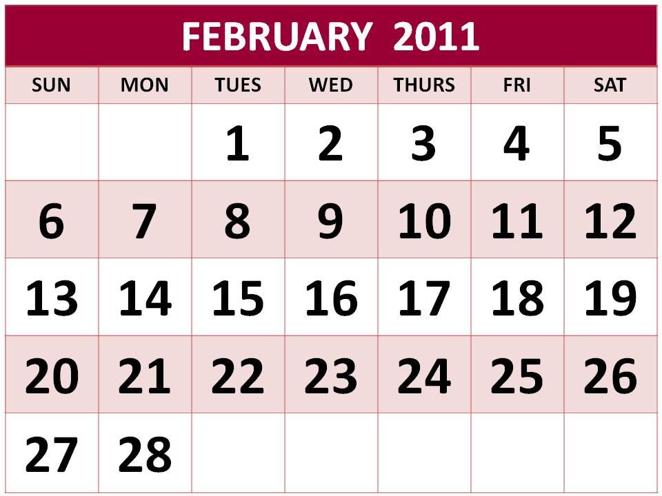 monthly calendar 2011 template. Calendars 2011 templates