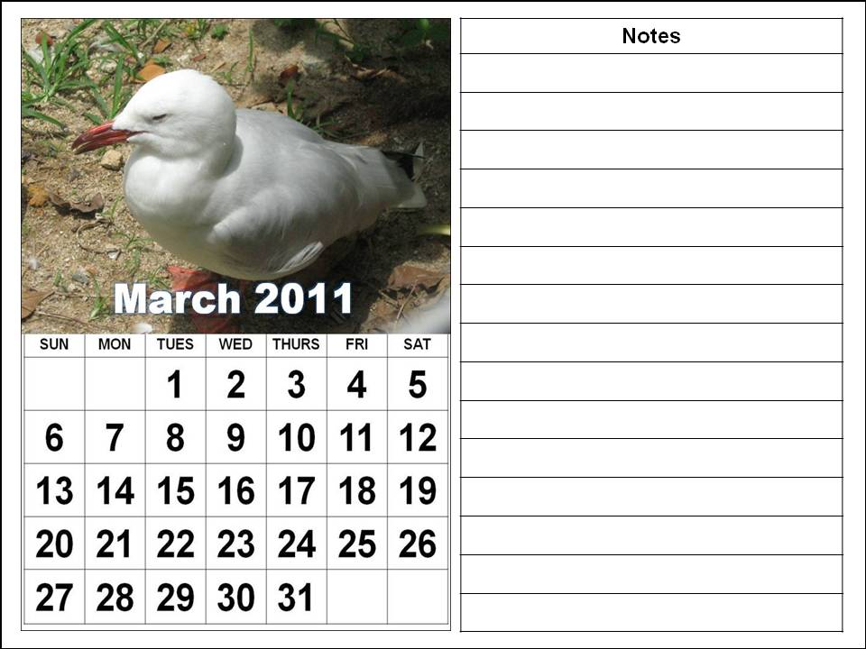 Free Printable March 2011 Calendar with big fonts. To download and print these Free Big Monthly Calendar 2011 March with big fonts:
