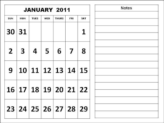 calendar january 2011. Free January 2011 Calendar