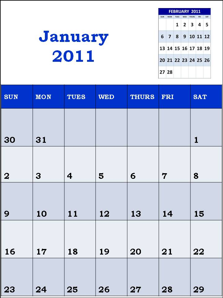 january 2011 calendar planner. january 2011 blank calendar.