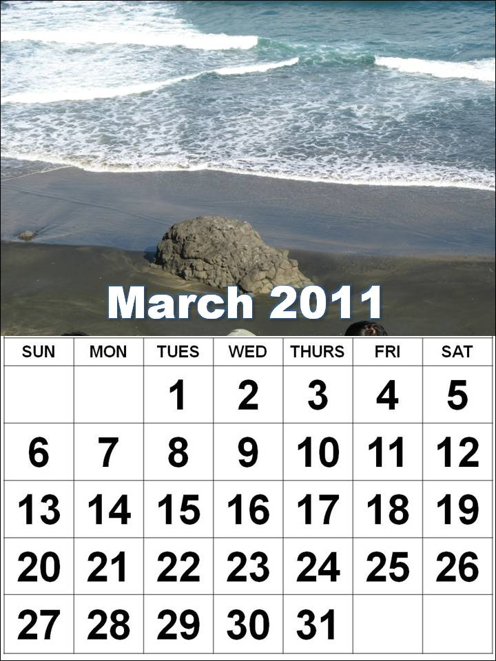 2011 calendar printable monthly. march 2011 calendar printable.