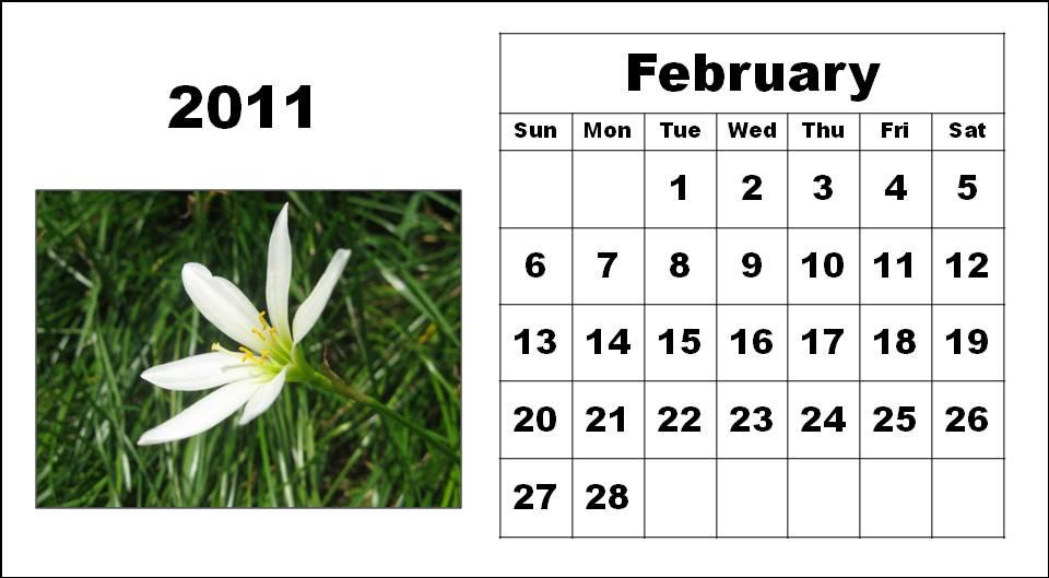 2011 calendar february. 2011 calendar february.