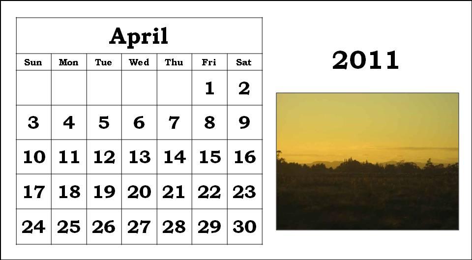 2011 calendar printable april. printable 2011 calendar april.