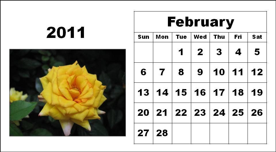 2011 calendar february. Feb 2011 Calendar.