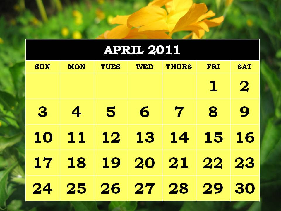 april 2011 printable calendar. Are printable , calendar all