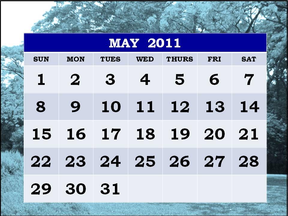 may calendar 2011 printable. 2011 may calendar printable.