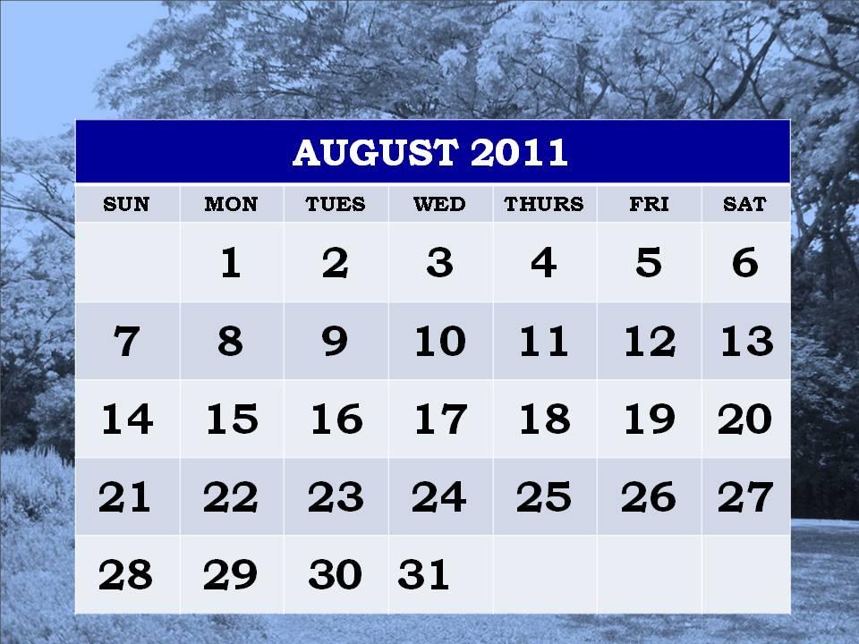 blank calendar 2011 august. lank august 2011 calendar.